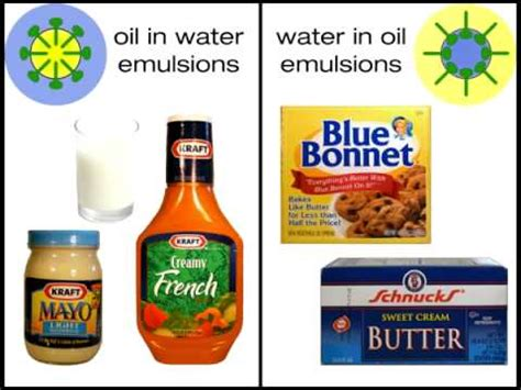 cuisine emulsion nature and use of emulsifiers in foods