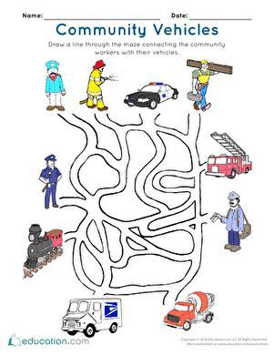 11541 community helpers pictures printables community workers worksheet education