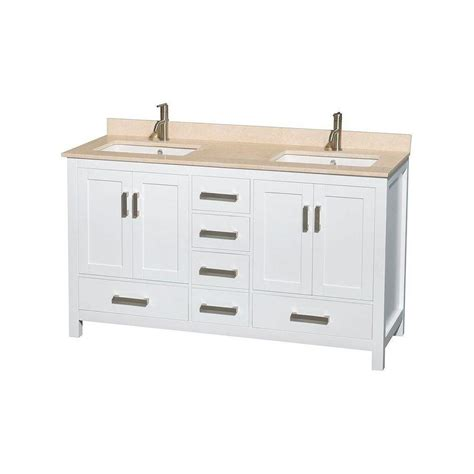wyndham collection sheffield 60 in vanity in white