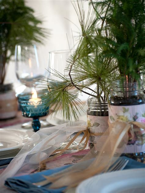 How to Make Evergreen Wedding Favors and Table Settings
