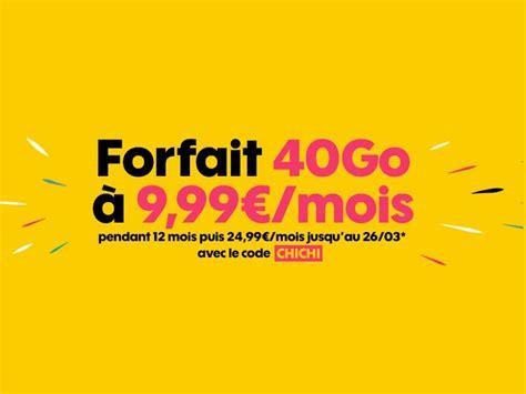 Le Forfait Sosh (orange) 40 Go Est à 10 € / Mois