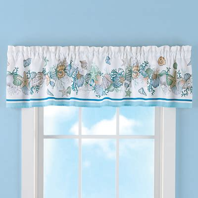 nautical seashell curtain valance  collections