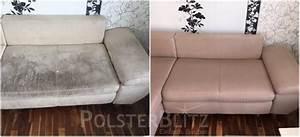 Sofa Polster Reinigen : sofa mit flecken und gebrauchsspuren gereinigt polsterreinigung schnell zuverl ssig ~ Frokenaadalensverden.com Haus und Dekorationen