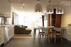 cuisine carrelage et salon parquet With salon parquet cuisine carrelage