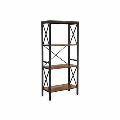 Shelves Open Bookcase Rack Ladder Living Shelf