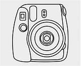 Instax Polaroid رسم كاميرا Te Si فوريه Clipart طريقه Jing Fm sketch template