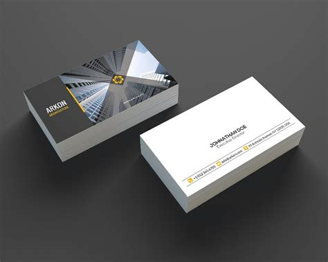 architectural business cards architecture business card se0207 business card templates creative market