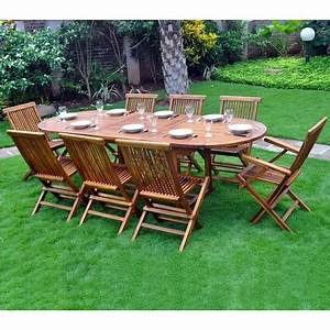 Salon De Jardin En Teck : salon de jardin en teck pour 8 10 personnes ~ Teatrodelosmanantiales.com Idées de Décoration