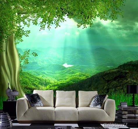 wallpaper bedroom mural roll nature scenery forest