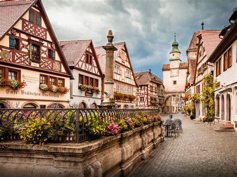 wonderful  town  germany rothenburg ob der tauber full hd wallpapers wallpaperscom