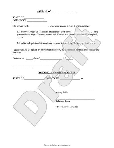 trustee demand for information template texas affidavit form create free general affidavit form
