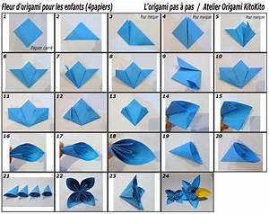 Fleur En Origami Facile : fleur d 39 origami pour les enfants et l 39 origami pas ~ Farleysfitness.com Idées de Décoration