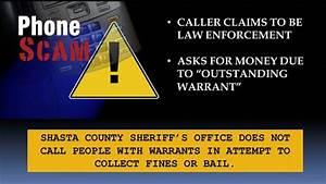Shasta County Sheriff warns Public about Phone Scam