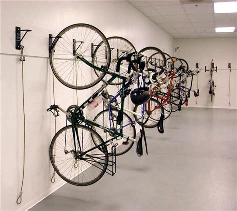 wall mounted bike rack tenant storage cages new york city nyc newly designed
