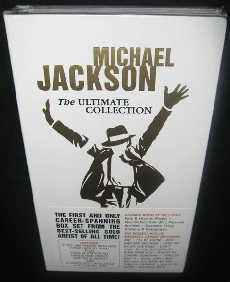 Michael Jackson Ultimate Collection (dvd Y 4 Cd's)  $ 479