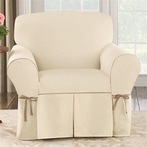 white slipcovered chair add chair a whole look only with chair