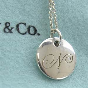 tiffany co sterling silver notes alphabet n charm With tiffany letter charm