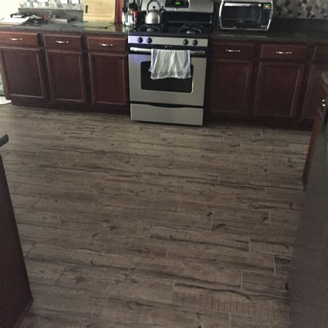 porcelain tile in kitchen kitchen flooring tile that looks like wood morespoons 4338