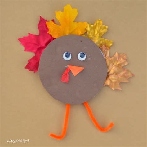 recycled cd turkey kid craft the resourceful 479 | preschool turkey craft