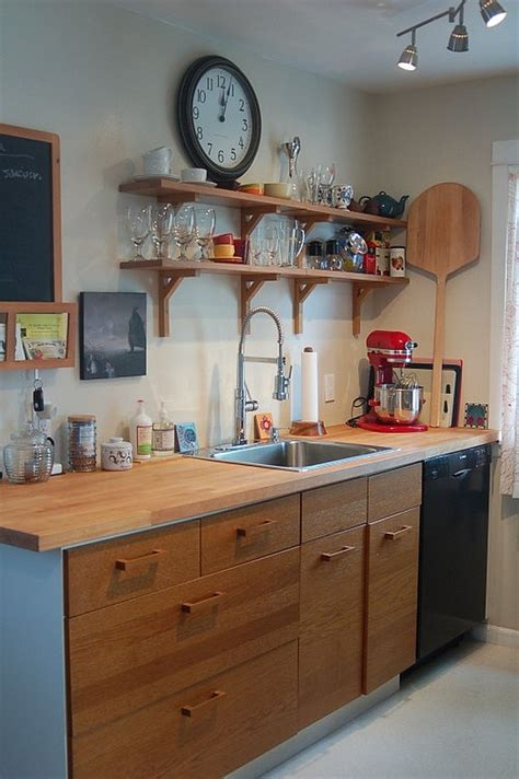Small Space  Wooden Kitchen Cabinets  Decoist