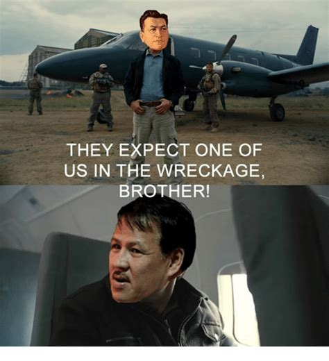 One Of Us Meme - they expect one of us in the wreckage brother filipino language meme on sizzle