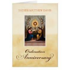 priest 50th anniversary of ordination blessing card anniversaries greeting card and 50th