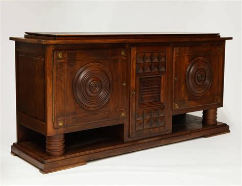 1930s Sideboard by Charles Dudouyt Deco Mahogany Sideboard Buffet 1930s