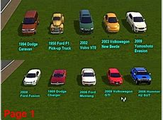 Mod The Sims Fresh Prince's Cars for Community Lots *no