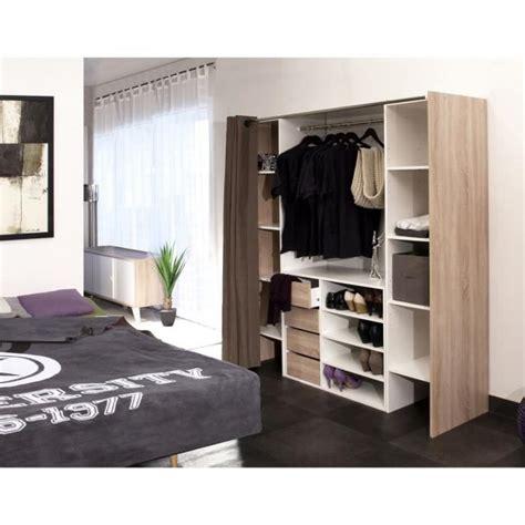 dressing rideau pas cher dress kit dressing extensible 112 185 cm rideau blanc et anthracite achat vente dressing