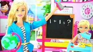 Barbie Quiero Ser Profesora Muñeca Barbie Juego de Maestra Pre Escolar YouTube