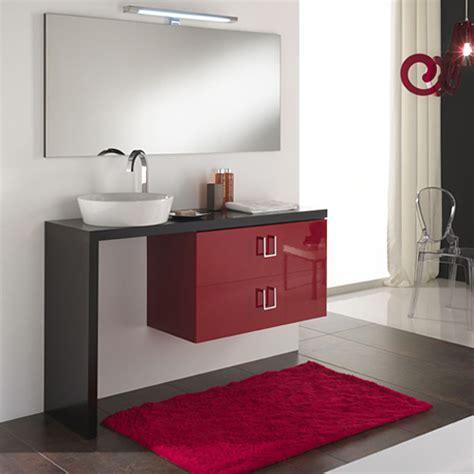 arredo bagno rosso arredo bagno moderno composizione arredo bagno moderno