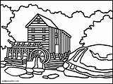 Clipart Mill Coloring Gristmill Virginia Watermill West Grist Clip 20clipart Cliparts Advertisement Clipground Library Template Cartoon sketch template