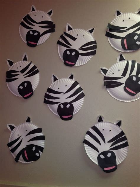 crafts actvities and worksheets for preschool toddler and 558 | paper plate craft zebra