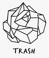 Crumpled Originating Bold Geometric Coloring Clipartkey sketch template