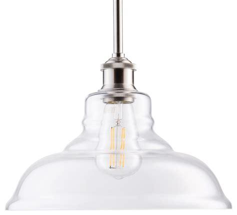 Lucera Led Contemporary Kitchen Pendant Light  Brushed