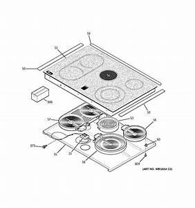 Cooktop Diagram  U0026 Parts List For Model Jcs968sf5ss Ge