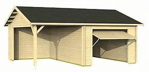 Garage Mit Carport : garage carport fertigbausatz holzgarage mit einzelcarport preiswert bestellen ~ Orissabook.com Haus und Dekorationen