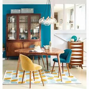 Chaise Vintage Maison Du Monde : chaise vintage en velours bleu canard et bouleau massif ~ Melissatoandfro.com Idées de Décoration