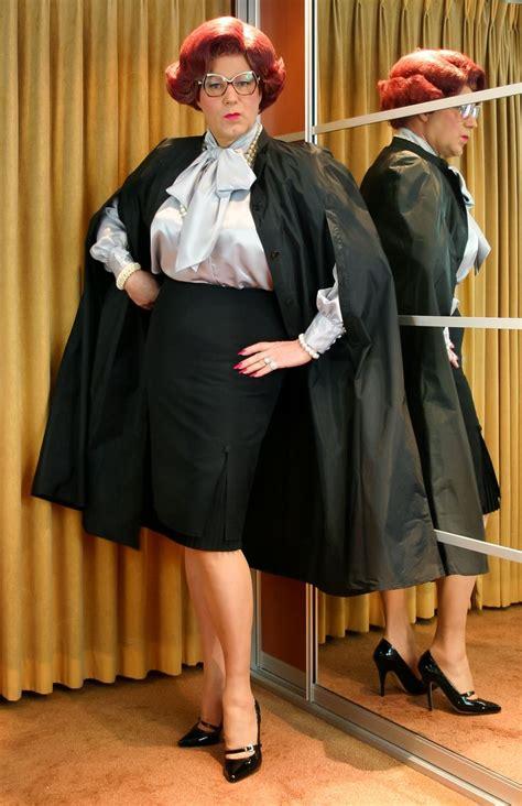 wanda nylon coats capes   tgirls bow