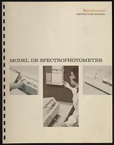 Beckman Model Db Spectrophotometer Instruction Manual