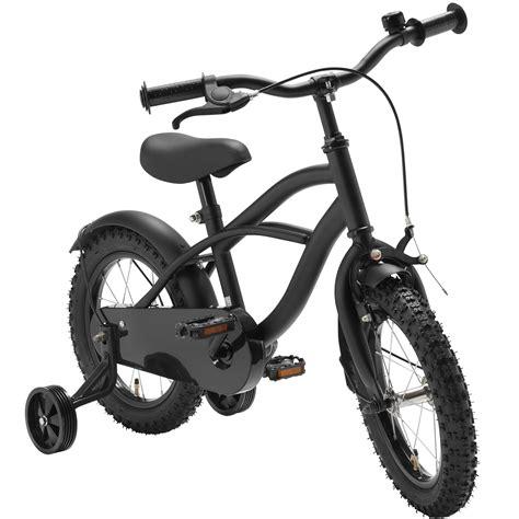 fahrrad 14 zoll jungen 14 zoll fahrrad schwarz matt kinderfahrrad st 252 tzr 228 der black cruiser jungen 1401g ebay