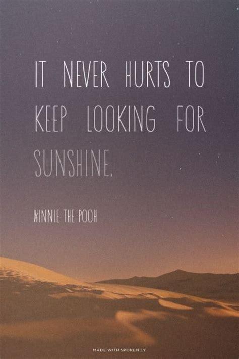 hurts     sunshine winnie