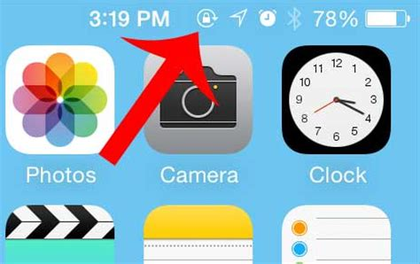 what is the lock symbol on my iphone what is the lock icon at the top of my iphone screen