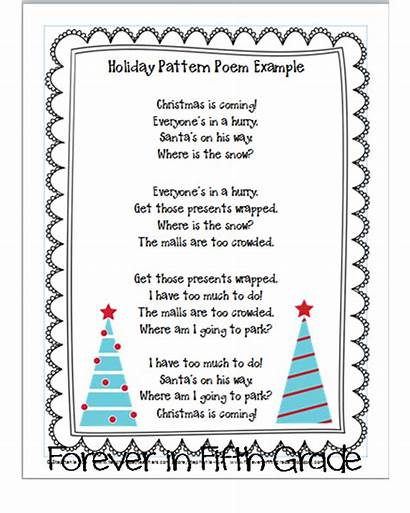 Christmas Holiday Sentence Grade Types Poems Fifth
