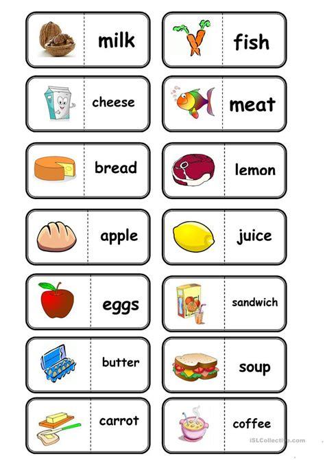 domino cuisine food domino worksheet free esl printable worksheets made by teachers