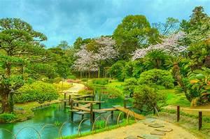Desktop, Wallpapers, Japan, Okayama, Korakuen, Hdr, Bridge, Nature, Park