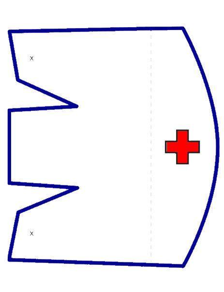 printable nurse hat template nipiorama    nurse hat hat template nursing cap
