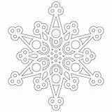 Coloring Pages Snowflakes Snowflake Christmas Half Merry Mandala Crochet Craft Printable Patterns Paper Donteatthepaste sketch template