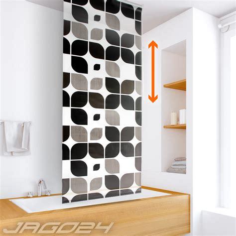 rideau de store de paroi baignoire salle bain motif feuille choix