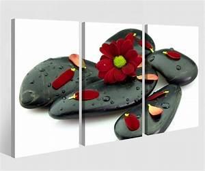 Bilder Feng Shui Steine : leinwandbild 3 tlg wellness blume rot steine feng shui spa zen leinwand bild bilder holz ~ Whattoseeinmadrid.com Haus und Dekorationen